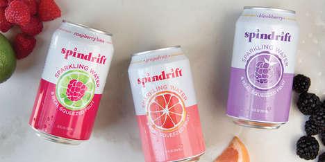 Vibrant Seltzer Water Branding
