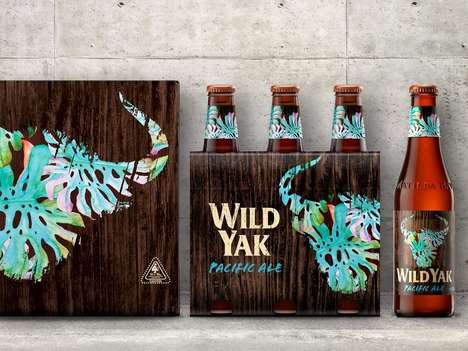Abstract Animal Beer Labeling - This Beer Uses a Yak as Its Signature Graphic