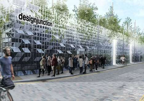 Gridded Green Buildings - The 'Cubitt House' Pavilion Will be Covered in a Grid of Mirrors and Flora