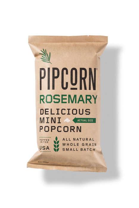 Herb-Topped Popcorn Snacks