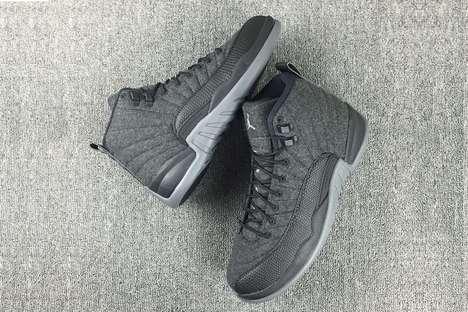 Woolen High-Top Sneakers