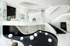 Curvaceous Futuristic Homes - The 'Elastica' Residence is Made with a Fluid Design