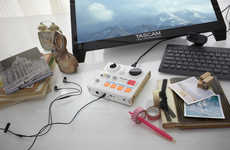 Portable Podcast Studios - The Tascam MiNiSTUDIO are Small but Powerful Recording Boards