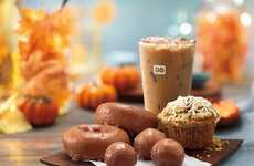 Pumpkin-Centric Donut Menus - Dunkin' Donuts' Fall 2016 Menu is Bursting with Pumpkin Flavors