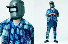 Welder-Masked Menswear Editorials - Nepenthes Shows Eclectic Japanese Styles with 'Work in Progress'