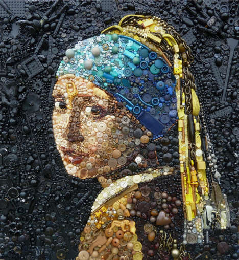 Plastic-Made Artworks - The 'Plastic Classics' Series Pays Homage to Famous Artworks