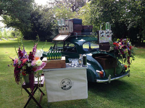 Automotive Gin Bars - 'Gin and Bear It' Operates Out of a Classic Converted Car