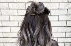 Youthful Gradient Grey Hairstyles - This Fresh-Faced Ombré Hair Look Divergently Uses Silver Shades