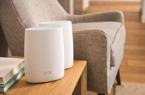 Dispersed Wi-Fi Routers - The Netgear 'Orbi' Router System Uses Multiple Routers for Wi-Fi