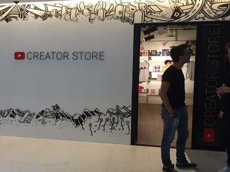 Content Creator Shops - The New YouTube Store in London is a Physical Place to Buy YouTuber Merch