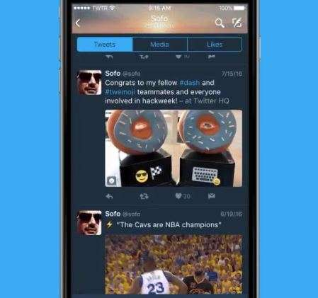 Darkened Social Media Interfaces