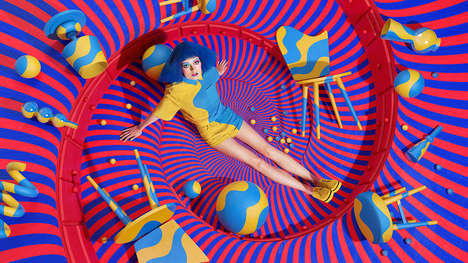 Whimsical Photography Campaigns - Sagmeister & Walsh Promoted Aizone with a Modern Art Image Series