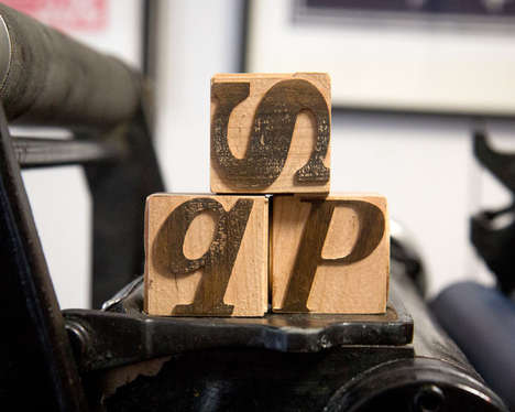 Instructional Type Blocks - The 'Tykography' Wooden Letter Cubes Teach Children About Typefaces