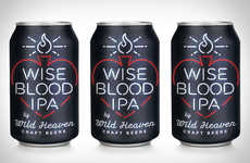 Neon Sign Beer Branding - This Wise Blood Ipa's Packaging is Simple but Impactful