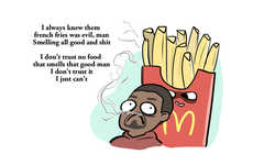 Fast Food Raps - These Drawings Highlight Kanye West's Poem About McDonald's Food