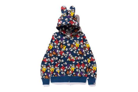 Collaborative Bunny-Printed Streetwear