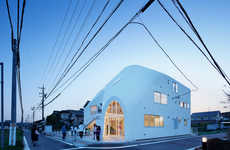 Quirky Kindergarten Buildings - This Japanese Kindergarten Building Features an Attached Slide