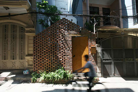 Perforated Brick Pavilions