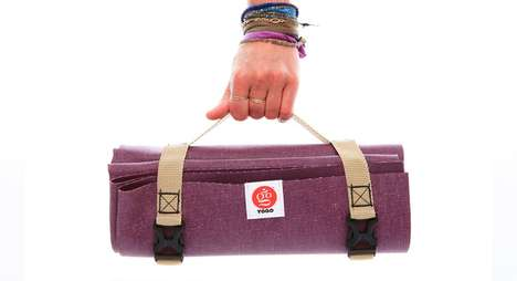 Travel-Ready Yoga Mats - The 'YOGO' Portable Yoga Mat Features a Built-In Carrying Strap