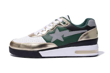 Revitalized Metallic Sneakers