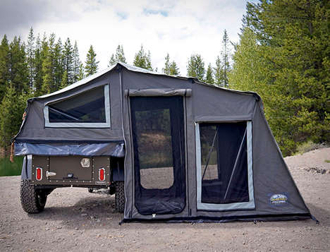 The Journey Basecamp Caravan Provides a Compact Luxe Family Tent