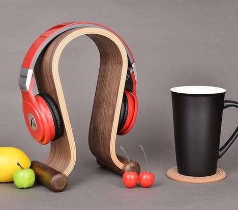 Wooden Headphone Holders