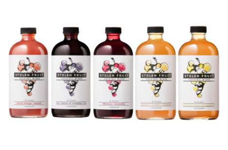 Wine-Inspired Cocktail Mixers - Stolen Fruit's Mixers are Made with Grape Juice and Skins