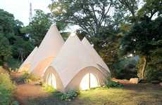 Conical Japanese Homes - The Jikka Complex Takes Its Design Inspiration From Teepees