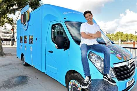Kaleidoscopic Cookie Trucks - Oreo is Using a 'Flavor Mobile' to Launch Its Newest Flavored Cookies