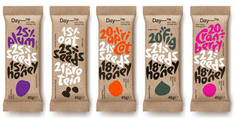 Playful Energy Bar Labels - These Labels are Both Sophisticated and Playful