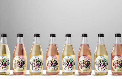 Summery Cider Branding - These Alcoholic Drinks are Designed to Be Vibrant and Youthful
