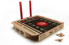 Game-Embedded Pizza Boxes - The New Pizza Hut Box Features a Flick Football Field on Top