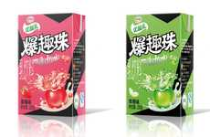 Bursting Bubble Yogurts - The UHT Dairy Beverages Feature Popping Alginate Balls Filled With Juice