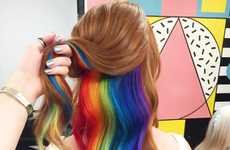 Secretive Rainbow Hairstyles - London's Not Another Salon Showcased Hidden Rainbow Hair on Instagram