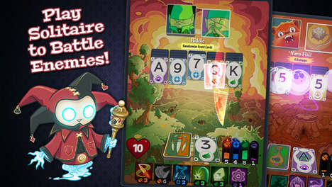 Combative Card Games - 'Solitairica' Combines Classic Solitaire with a Role-Playing Adventure