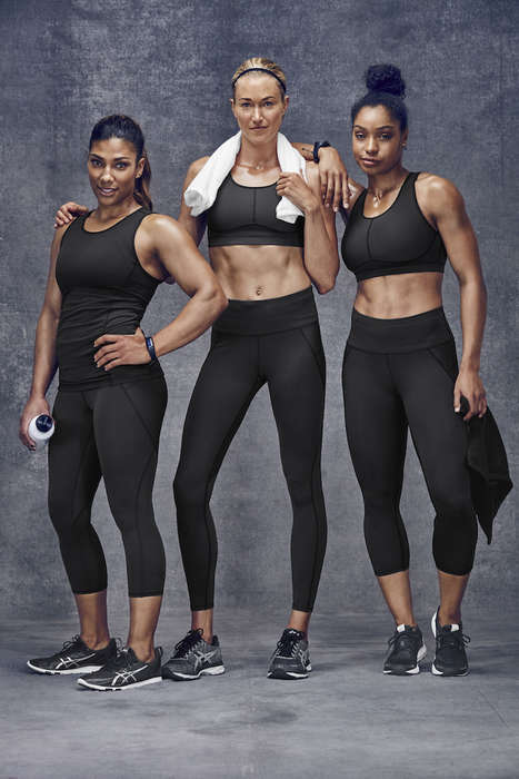 Seamless Athletic Fabrics - Athleta's 'Sculptek' Material Redefines Strength and Support