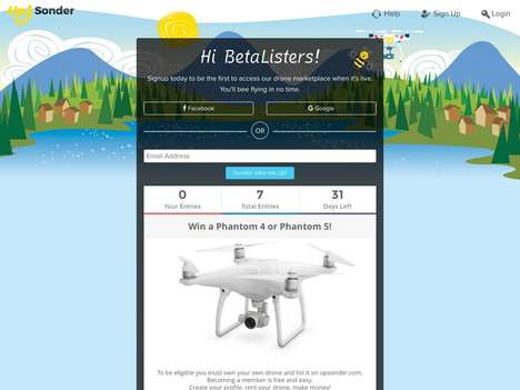 Drone Rental Platforms - Startup Up Sonder is an On-Demand P2P Service That Lets You Rent a Drone