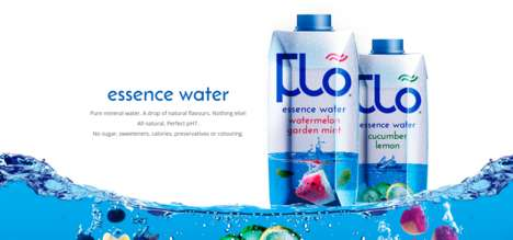Flavored Mineral Waters - Flõ Essence Water Combines Pure Mineral Water with a Hint of Flavor