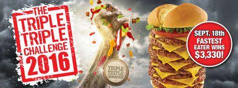 Oversized Burger-Eating Challenges