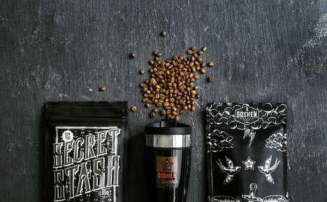 Monochrome Coffee Labeling