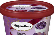 Violet Spud Ice Creams - Häagen-Dazs Japan Offers Unusual Flavor With a Purple Potato Frozen Dessert