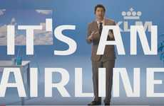 Simplified Airline Promotions - This Comical Commercial Tells Consumers That KLM is an Airline