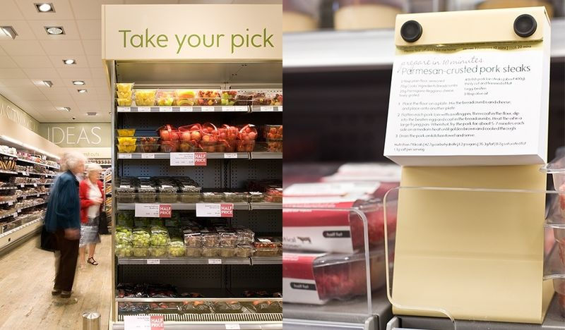 Recipe-Themed Grocery Displays