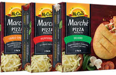 Rebranded Frozen Pizza Snacks - McCain is Rebranding Its Pizza Pockets as Marché Pizza Pockets