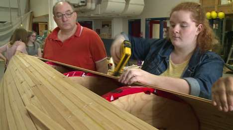 Commemorative Canoe Building Projects - Students are Making Canoes for Canada's 150th Birthday