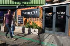 Pop-Up Seawater Shops - 'The Bottle' by RNLI Stocks Salt Water Drinks for Water Safety Awareness