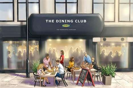 DIY Dining Pop-Ups - 'The Dining Club' by IKEA Has Guests Prepare Their Own Meals
