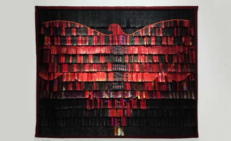 Music-Inspired Textile Compositions - This Exhibition Was Inspired by West African Music