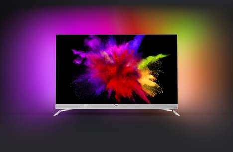 Ambient Illumination OLED TVs - The Philips 901F 55-Inch TV Optimizes the Living Room