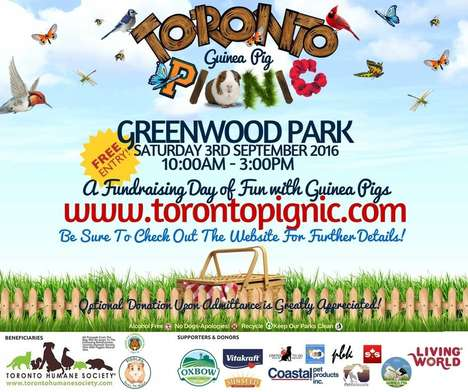 Pet Rescue Picnics - The 'Toronto Pignic' is an Outdoor Event for Guinea Pig Owners and Enthusiasts